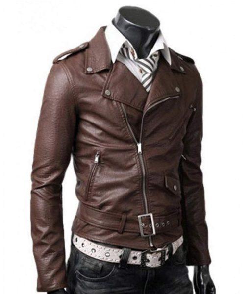 asymmetrical-slim-fit-brown-leather-jacket