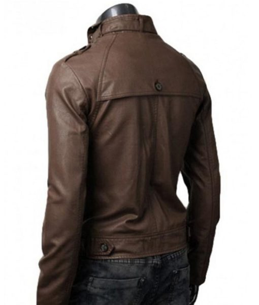 mens-belted-collar-slim-fit-brown-leather-jacket