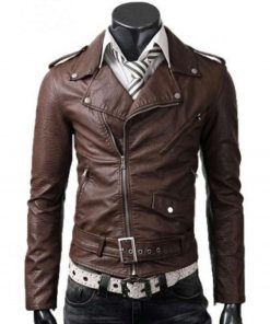 slim-fit-brown-leather-jacket