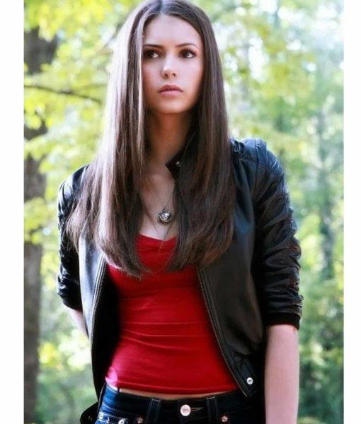 elena-gilbert-vampire-diaries-leather-jacket