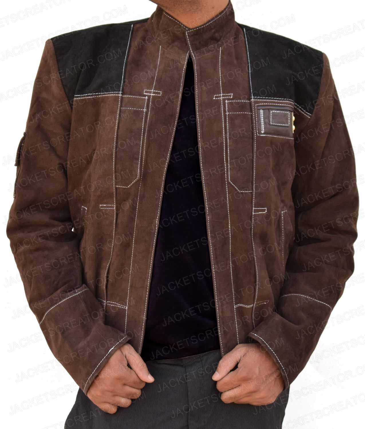 New Brown Suede A Star Wars Story Young Han Solo Jacket ...