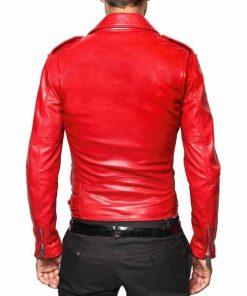 belted-mens-red-leather-biker-jacket