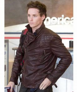 eddie-redmayne-brown-leather-jacket