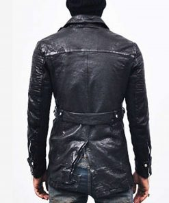 mens-black-mid-length-leather-coat
