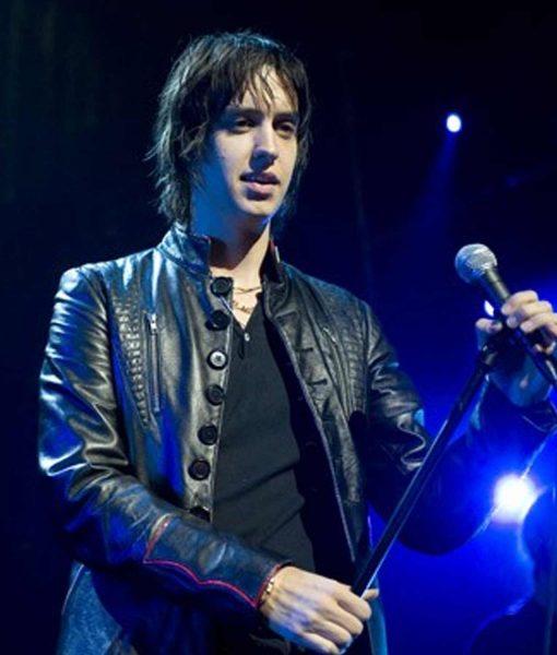 concert-los-angeles-julian-casablancas-leather-jacket