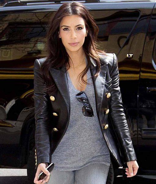 double-breasted-kim-kardashian-leather-jacket