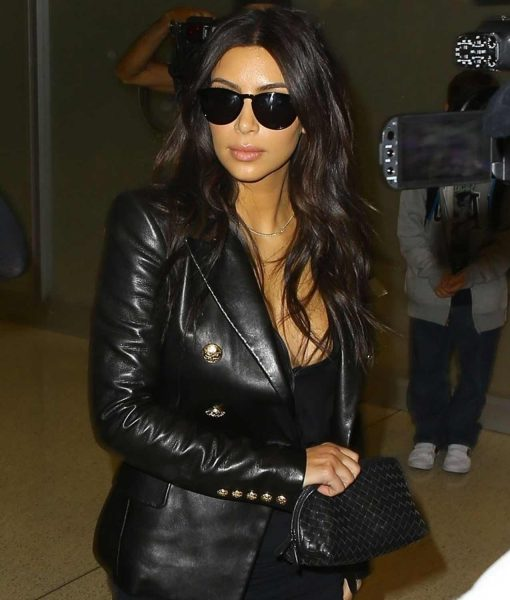 kim-kardashian-double-breasted-leather-jacket