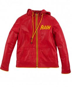 flash-red-leather-hoodie