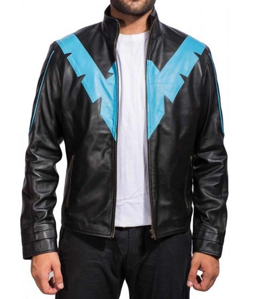 nightwing-dick-grayson-black-leather-jacket