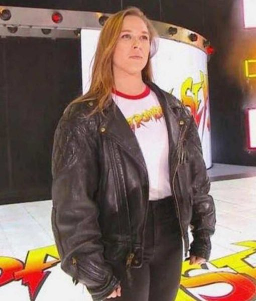 royal-rumble-ronda-rousey-leather-jacket