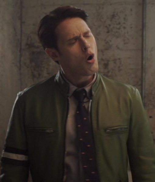samuel-barnett-dirk-gently-green-leather-jacket