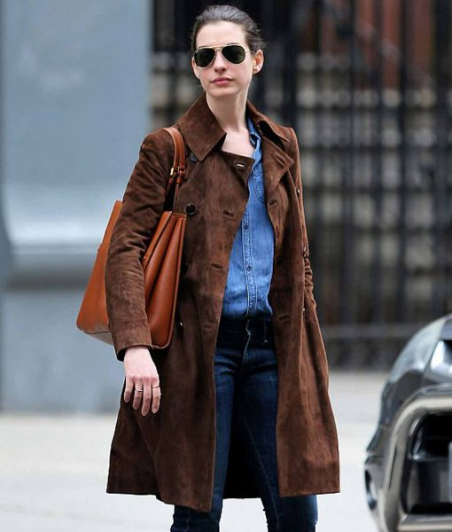 anne-hathaway-suede-brown-coat