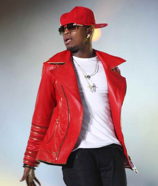 michael-forever-ne-yo-red-leather-jacket