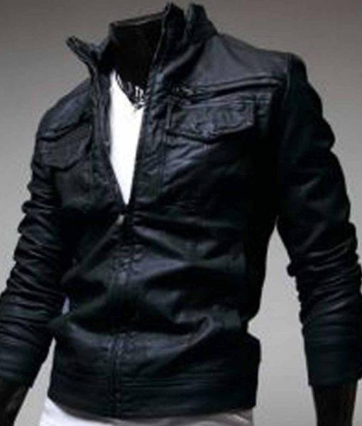 black-slim-fit-leather-jacket