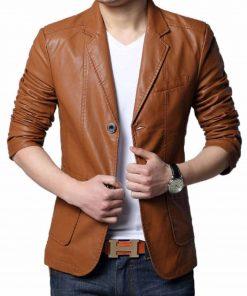 brown-leather-blazer