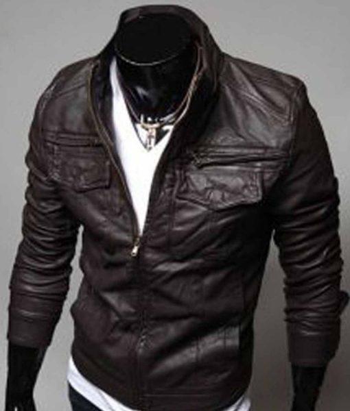 brown-slim-fit-leather-jacket