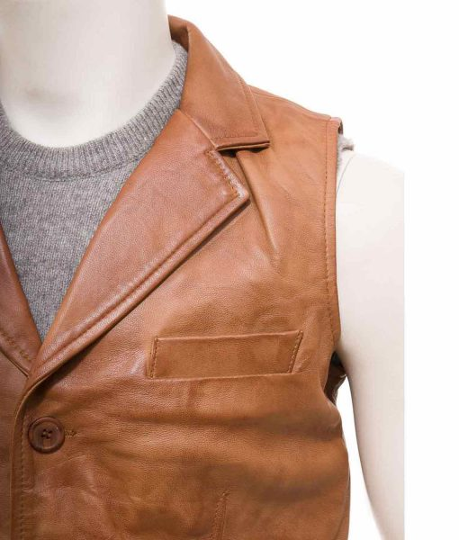 brown-tan-leather-vest