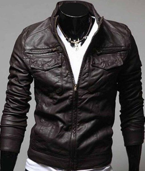 chocolate-brown-slim-fit-leather-jacket