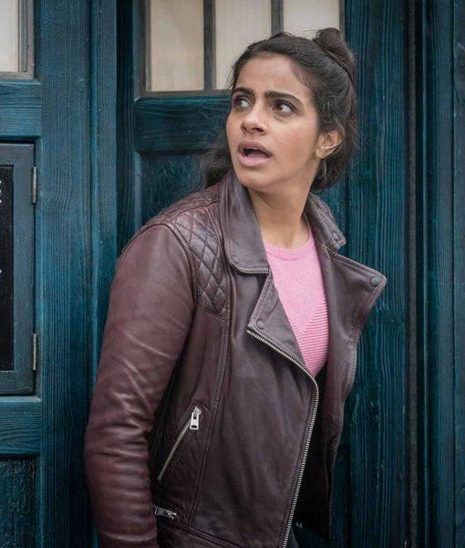 doctor-who-yasmin-khan-brown-leather-jacket