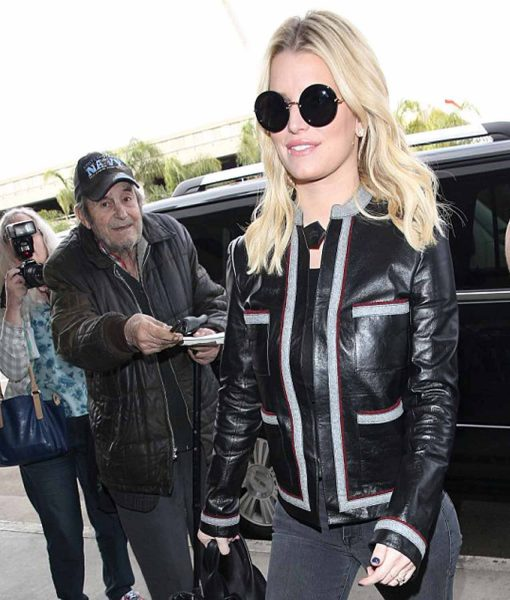 jessica-simpson-striped-leather-jacket