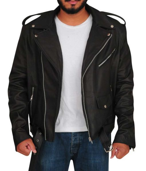 mens-black-leather-biker-jacket
