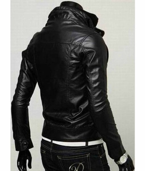 mens-multi-color-high-neck-collar-slim-fit-leather-jacket