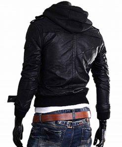 mens-slim-fit-black-leather-jacket-with-hoodie