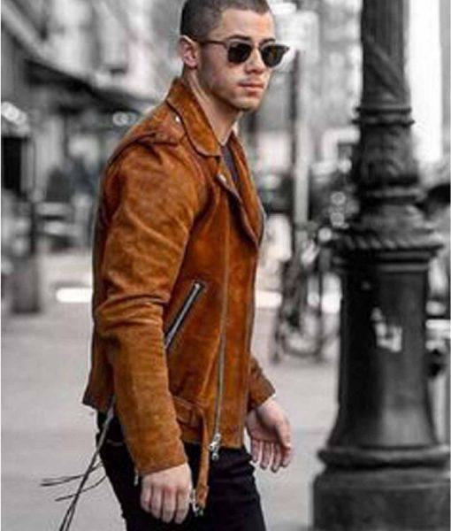 nick-jonas-biker-brown-jacket