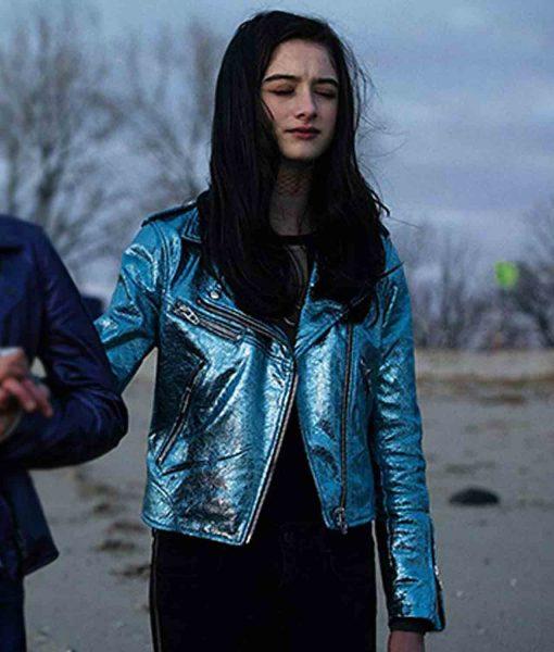raffey-cassidy-vox-lux-leather-jacket
