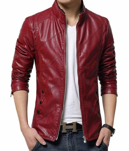 red-faux-leather-jacket