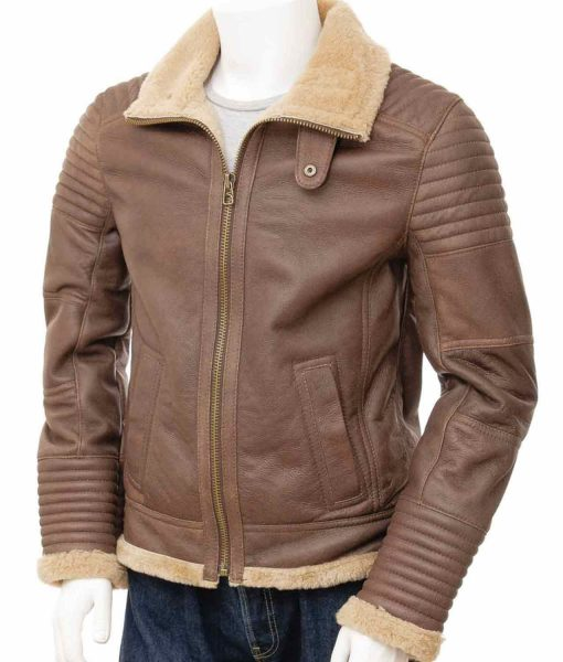 shearling-brown-leather-jacket