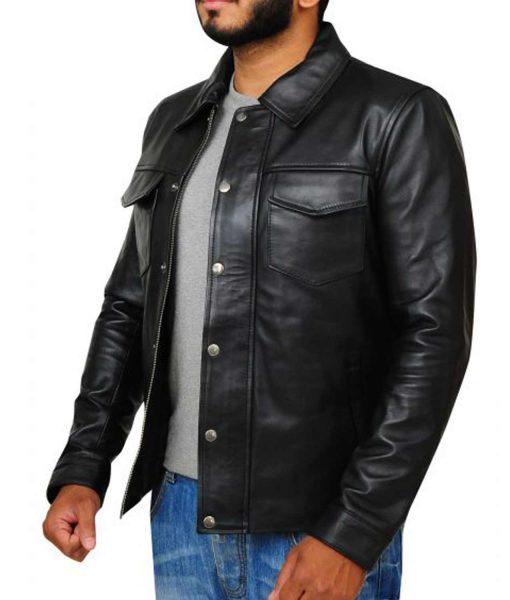 singer-adam-lambert-leather-jacket