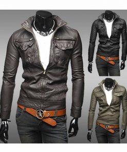 slim-fit-faux-leather-jacket