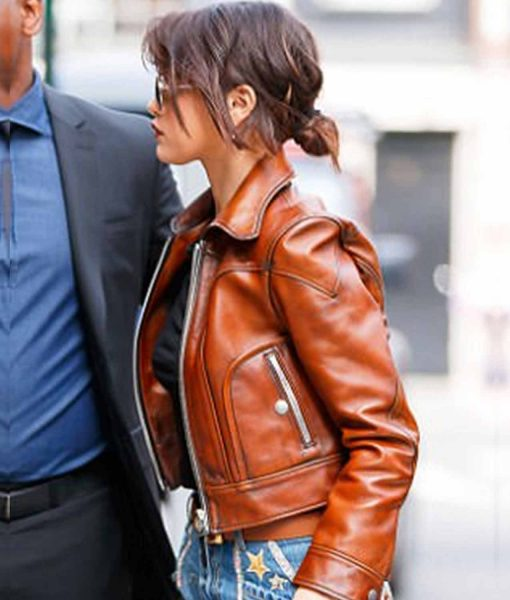 antique-waxed-selena-gomez-brown-leather-jacket