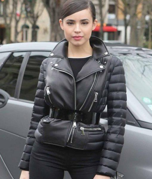 paris-fashion-sofia-carson-leather-jacket