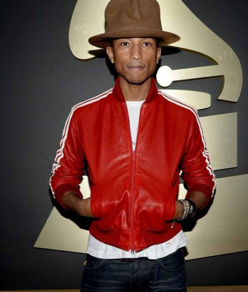 pharrell-williams-red-leather-jacket