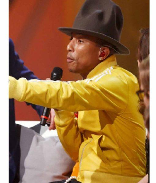 pharrell-williams-yellow-bomber-leather-jacket