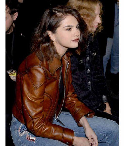 selena-gomez-antique-waxed-brown-jacket