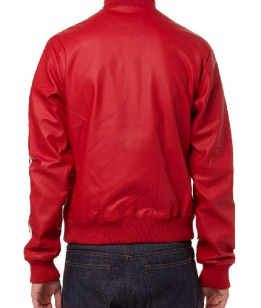 striped-design-pharrell-williams-red-leather-bomber-jacket