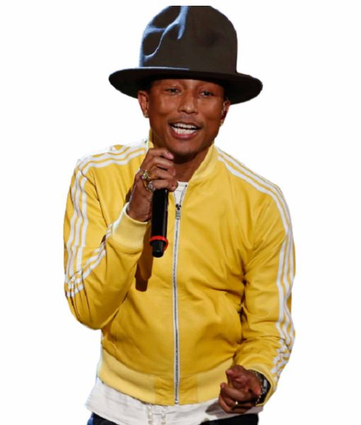 striped-design-pharrell-williams-yellow-leather-bomber-jacket
