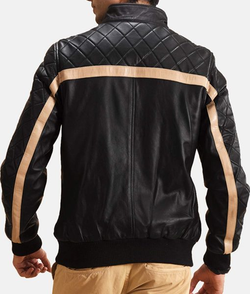 striped-diamond-quilted-mens-leather-bomber-jacket