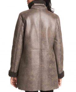 womens-grey-leather-asymmetrical-shearling-coat