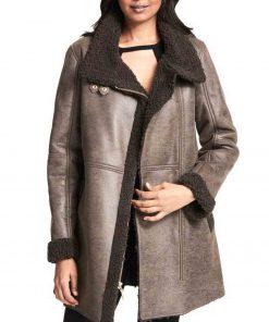 womens-grey-leather-coat