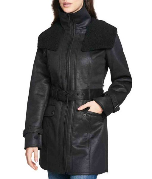 womens-mid-length-black-shearling-coat
