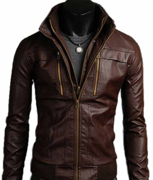 double-collar-brown-leather-jacket