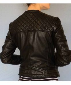 willa-holland-arrow-thea-queen-black-leather-jacket