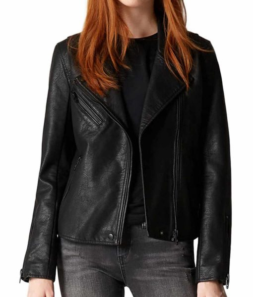 nora-west-allen-black-leather-jacket