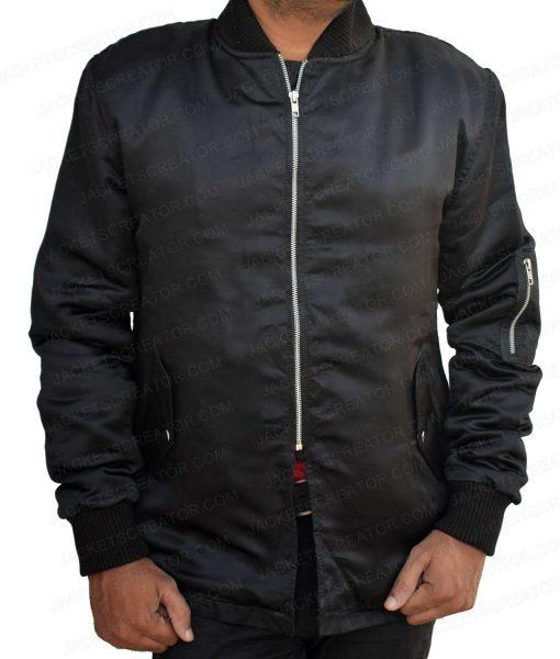 power-black-bomber-jacket