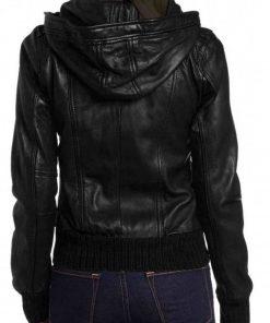 casual-womens-black-bomber-hoodie