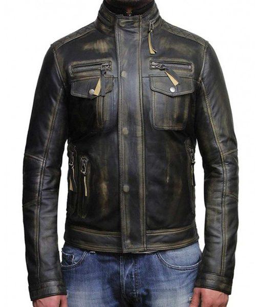 mens-biker-black-waxed-leather-jacket
